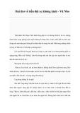 Bài thơ về tiểu đội xe không kính - Vũ Nho