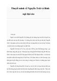 Thuyết minh về Nguyễn Trãi và Bình ngô đại cáo