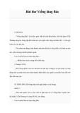 Bài thơ Viếng lăng Bác