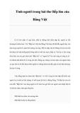 Tình người trong bài thơ Bếp lửa của Bằng Việt