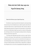 Phân tích bài Chiếc lược ngà của Nguyễn Quang Sáng