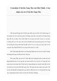 Cảm nhận về bài thơ Sang Thu của Hữu Thỉnh - Cảm nhận của em về bài thơ Sang Thu