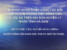 Đề tài: GIẢI PHÁP HOÀN THIỆN CÔNG TÁC BỒI THƯỜNG GIẢI PHÓNG MẶT BẰNG CỦA CÁC DỰ ÁN TRÊN ĐỊA BÀN HUYỆN LÝ NHÂN TỈNH HÀ NAM