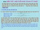 Bài 10: BIẾN TRỞ - ĐIỆN TRỞ DÙNG TRONG KỸ THUẬT