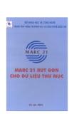 Khổ mẫu Marc 21 rút gọn cho dữ liệu thư mục - ThS. Cao Minh Kiểm (chủ biên)