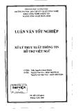 Luận văn:Xử lý truy xuất thông tin hỗ trợ Việt ngữ