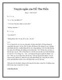 Truyện ngắn của Đỗ Thu Hiền