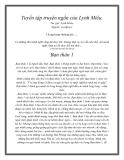 Tuyển tập truyện ngắn của Lynh Miêu.