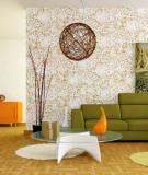 Trang trí phòng khách tươi tắn và dịu mát