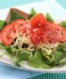 Cà chua xốt tôm khô, rau sống