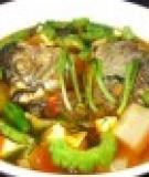 Cá rô phi xốt rau