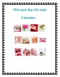 Món quà đẹp cho ngày Valentine