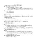 Đề và đáp án thi thử đại học môn toán - Đề số 3