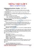 LUYỆN TỪ VÀ CÂU- Phân loại câu theo cấu tạo - Câu ghép