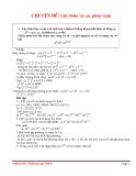 Lủy thừa và các phép toán
