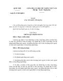 Luật số: 47/2010/QH12- LUẬT CÁC TỔ CHỨC TÍN DỤNG