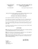 Quyết định số 262/QĐ-UBND
