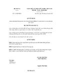 Quyết định số 123/QĐ-BNV