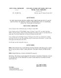 Quyết định số 316/QĐ-TTg