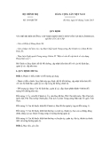 Quyết định số 164-QĐ/TW