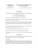 Quyết định số 65/QĐ.UBND.VX