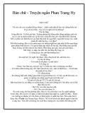 Bán chữ - Truyện ngắn Phan Trang Hy