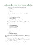 TRẮC NGHIỆM - PHÂN TÍCH VÀ ĐẦU TƯ CHỨNG KHOÁN - ĐỀ SỐ 2