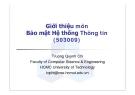 Giới thiệu môn Bảo mật Hệ thống Thông tin (503009)