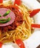 Mì Ý xốt bò hầm cho bé