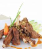 Sườn đà điểu nướng xốt hạt bí