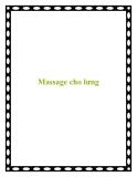 Massage cho lưng