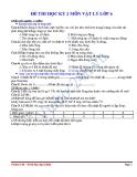 Tổng hợp đề thi học kì 2 môn Vật lý lớp 6 (kèm đáp án)