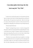 """Cảm nhận (phân tích) đoạn thơ thứ hai trong bài """"Tây Tiến"""""""