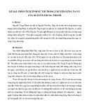 Phân tích tính sử thi trong truyện Rừng Xà nu của Nguyễn Trung Thành