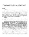 Dàn ý phân tích hình tượng cây xà nu trong truyện ngắn Rừng xà nu của Nguyễn Trung Thành