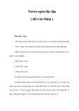 Tài liệu: Tuyên ngôn độc lập ( Hồ Chí Minh )