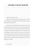 Giới thiệu về nhà thơ Thanh Hải