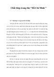 """Chất thép trong thơ """"Hồ Chí Minh """""""