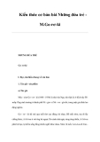 Kiến thức cơ bản bài Những đứa trẻ M.Go-rơ-ki