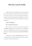 Phân tích 12 câu thơ Việt Bắc