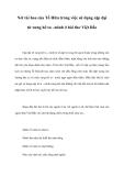Nét tài hoa của Tố Hữu trong việc sử dụng cặp đại từ xưng hô ta –mình ở bài thơ Việt Bắc