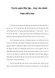 Tuyên ngôn Độc lập - Áng văn chính luận mẫu mực