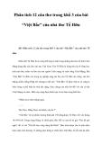 Phân tích 12 câu thơ trong khổ 3 bài Việt Bắc của nhà thơ Tố Hữu