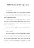 Phân tích bài thơ Vội Vàng - Xuân Diệu