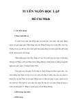 TUYÊN NGÔN ĐỘC LẬP Hồ Chí Minh