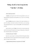 """Những vấn đề cơ bản trong bài thơ """"Việt Bắc"""" ( Tố Hữu)"""