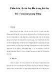 Phân tích 14 câu thơ đầu trong bài thơ Tây Tiến của Quang Dũng