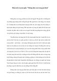 Phân tích truyện ngắn Những đứa con trong gia đình