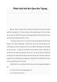 Phân tích bài thơ Qua đèo Ngang