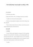 Giá trị hiện thực truyện ngắn Vợ chồng A Phủ
